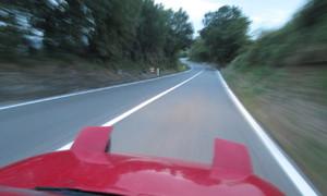 Autíčkář na cestách, Autíčkářova garáž, Autíčkářovy historky: Do Říma s Rudou Potvorou, část první