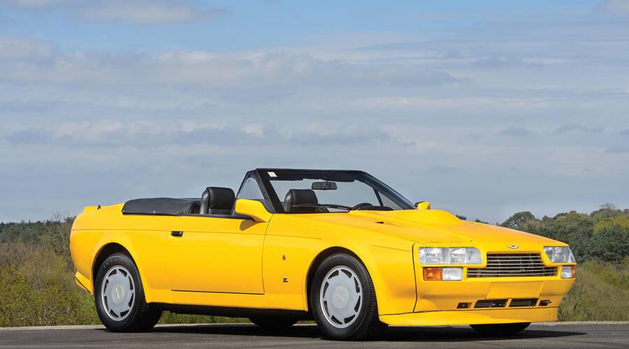 Novinky: Aston Martin V8 Vantage Volante Zagato je velmi osmdesátkový a velmi žlutý
