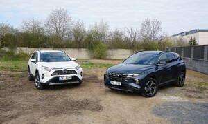 Recenze & testy: Hyundai Tucson HEV vs. Toyota RAV4 Hybrid: Hybridní souboj střední váhy