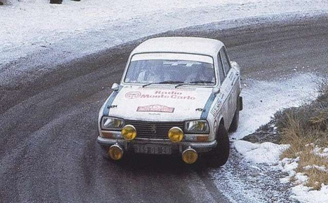 První rally v životě. Monte Carlo 1973 v roli navigátorky kamaráda Jeana Tarbiho.