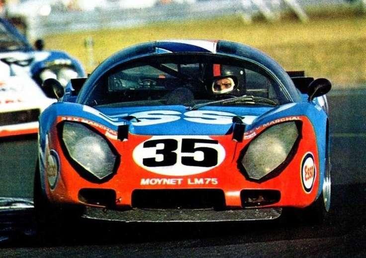 Poprvé mimo rally - na trati Le Mans 1975.
