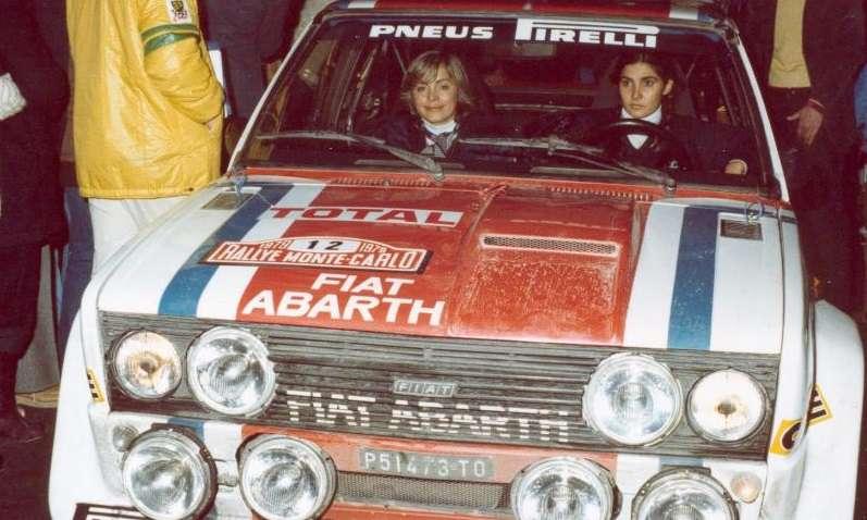 S navigátorkou Françoise Conconi za volantem Fiatu 131 Abarth Rallye.