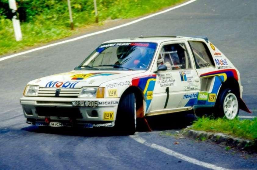Na Deutschland Rallye 1986 s Terrym Harrymanem v roli spolujezdce.