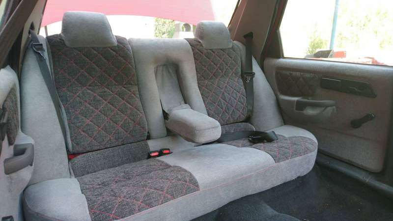 Posezení pro pasažéry vzadu