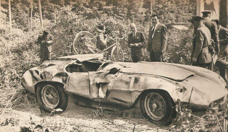 Vrak Ascariho vozu v Monze 1955