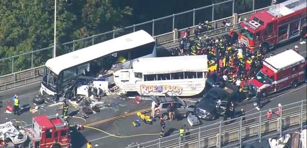 Nehoda DUKW v Seattle. Foto: ABC News